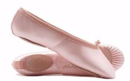 Picture of Girls Ladies Pink Satin Split Sole Ballet