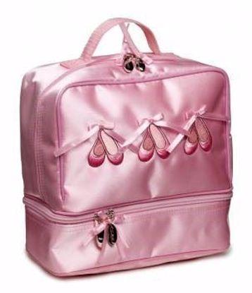 Picture of Girls Pink Satin Ballet Ballerina Shoe Dance Hand Bag