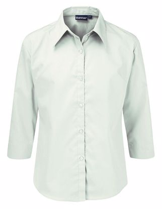 Picture of White 3/4 Sleeve Blouse